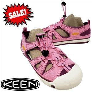 Keen's Lace Up Pink & Purple Sneaker Sandal Size 4